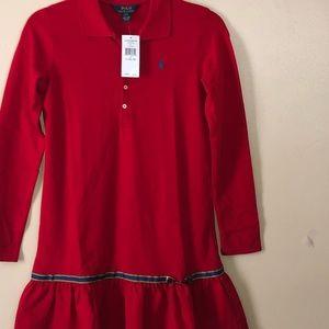 Girls Red Polo Dress by Ralph Lauren